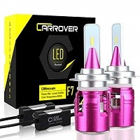 Safego Lampadine H7 LED 8000LM Kit Lampada Sostituzione per Alogena Lampade e Xenon Luci Fari Auto Luce Abbaglianti e Anabbaglianti Faro per 12V-24V 2 Lampadine 6000K Bianco