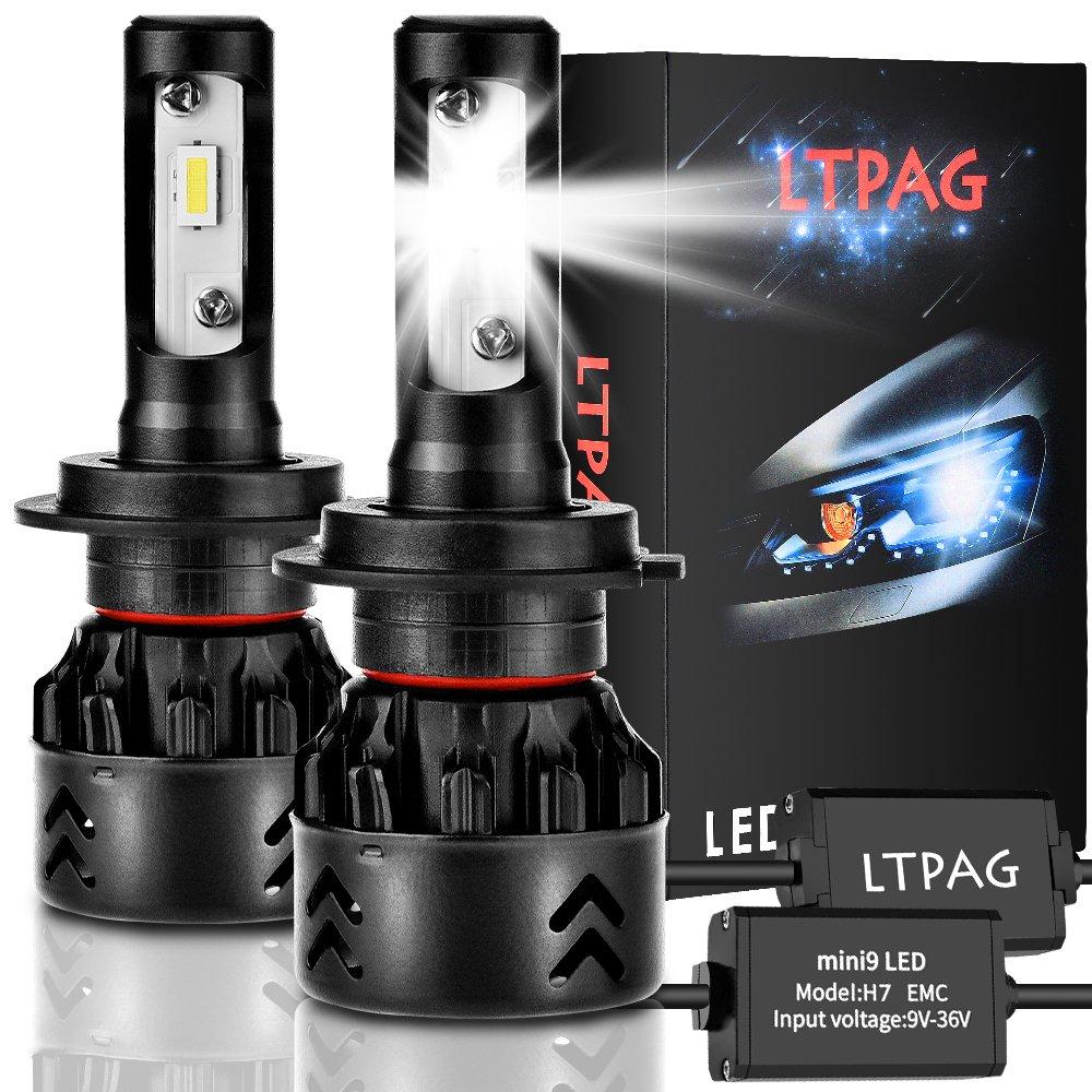 Lampadine H1 LED 10000LM Kit Sostituzione per Alogena Lampade e Xenon Luci,Lampada 6000K Bianco,3 ANNI DI GARANZIA Fari Abbaglianti o Anabbaglianti per Auto